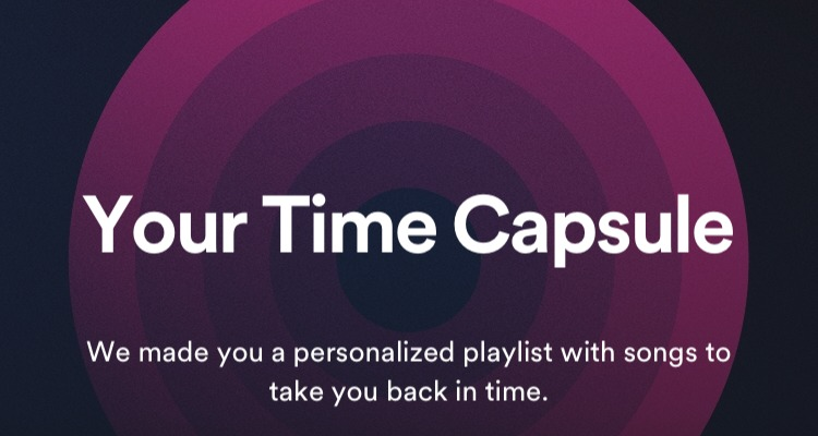 """""""Your Time Capsule"""" på Spotify"""