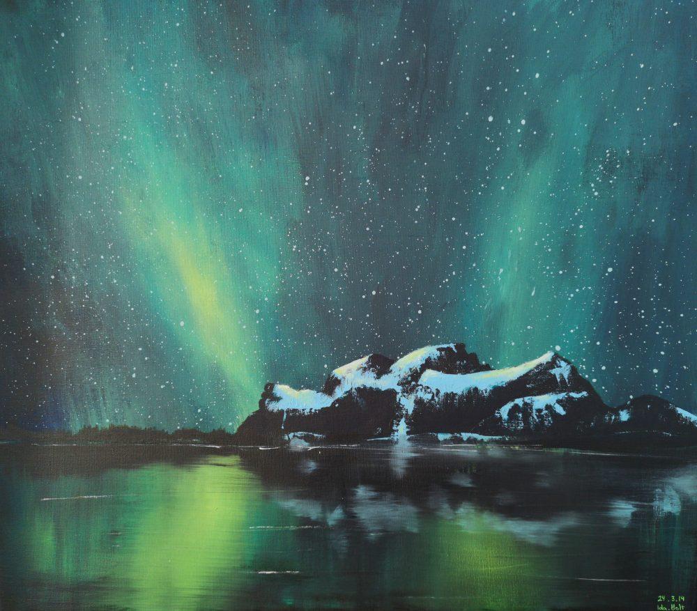 maleri-akryl-nordlys-ida-holt-fugløya-gildeskål