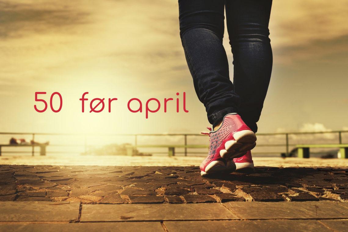 10.000 skritt - 50 før april