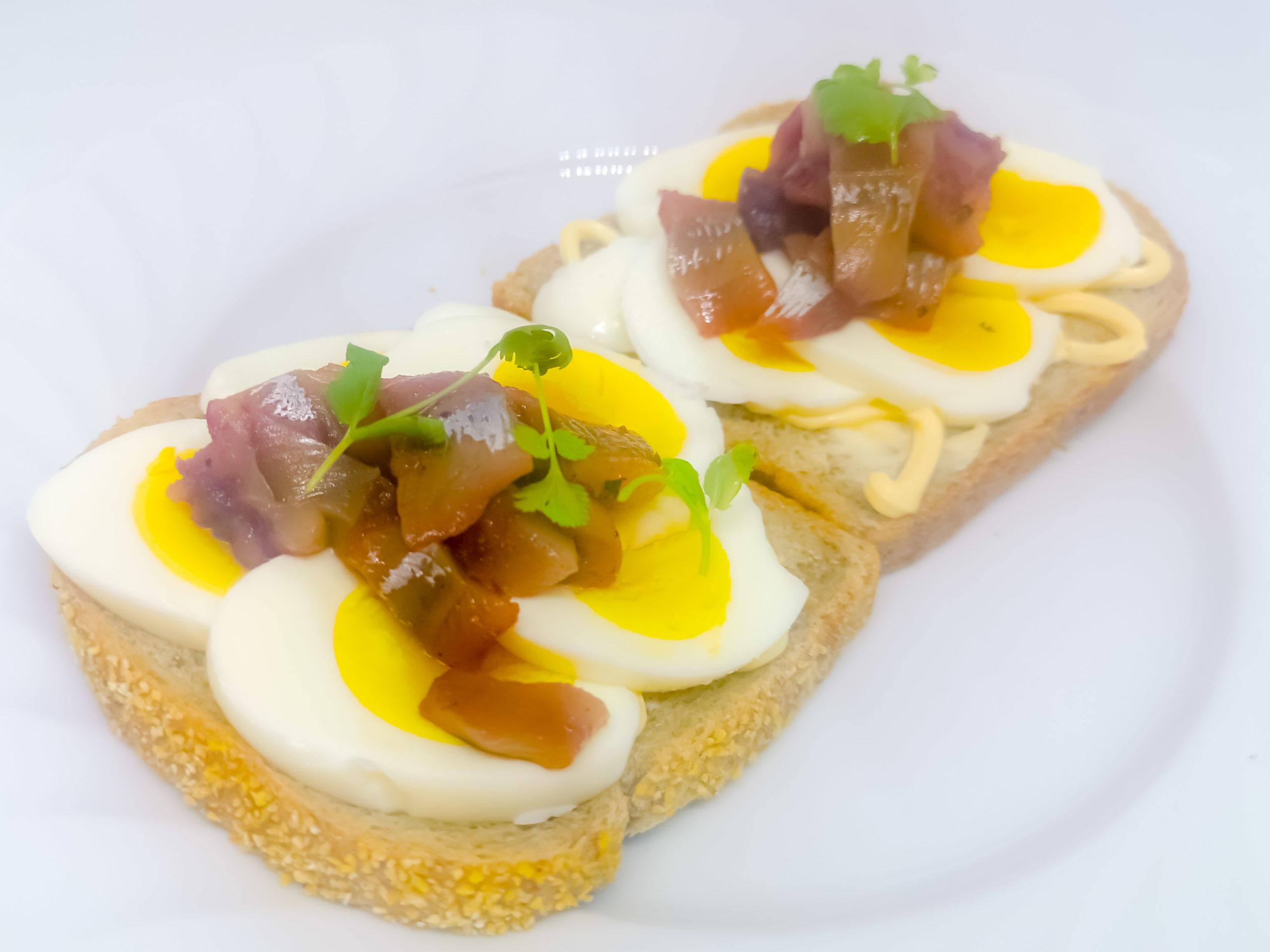 egg, sild
